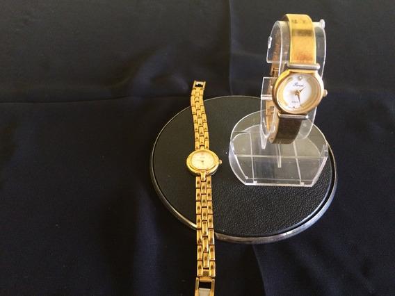 Lote 2 Relógios Antigo De Pulso Feminino Peniel-citizen