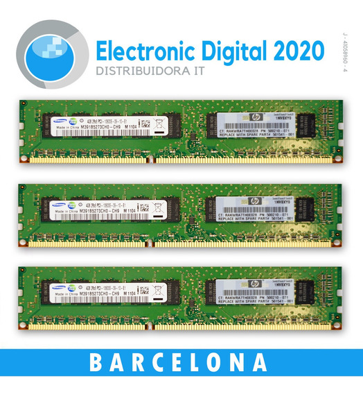 Memoria 4gb Ddr3 1600mhz Samsung Pc3-10600e Para Servidores