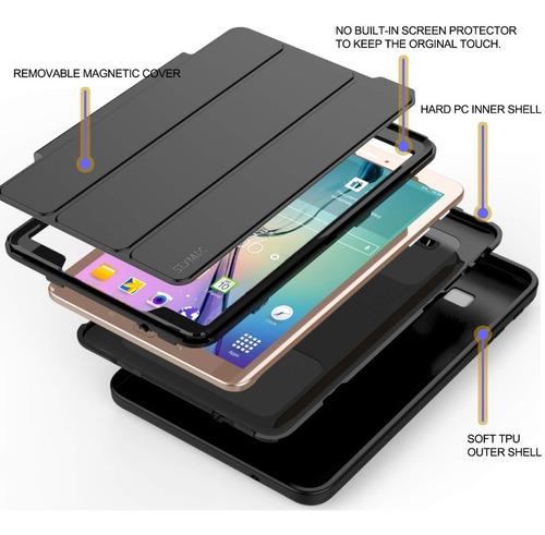 Case Funda Galaxy Tab E 9.6 T560 De 4 Partes Tapa Magnética