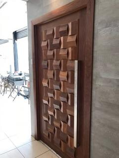 Porta Pivotante Madeira Egito 240x150 Entrada Sala Cozinha