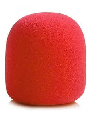 Espuma Para Microfone De Mão Sm58 Vermelha