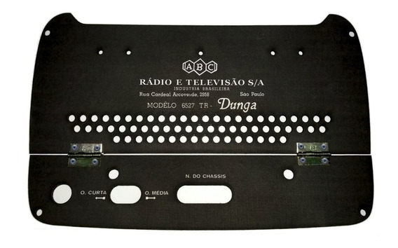 Tampa Traseira Rádio Abc Dunga Mod 6527 Tr
