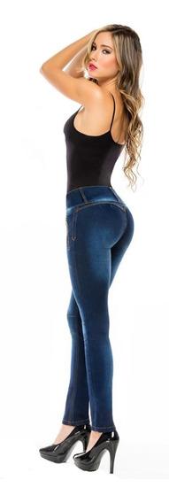 Jean Levanta Cola Azul Calse Perfecto Bruja Original