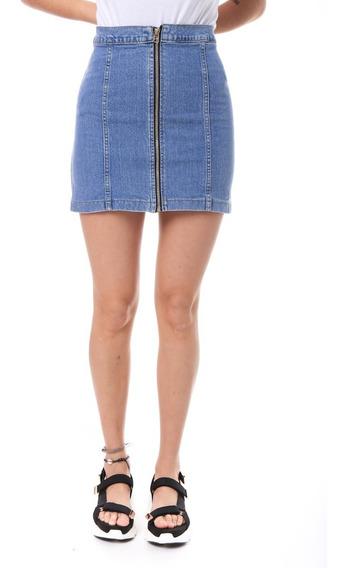 Falda Pollera Muriel Cierre   Vov Jeans (9224)