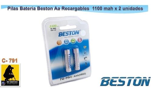 Imagen 1 de 1 de 2 Pilas Baterías Beston Aaa Recargable 1100 Mah Ni-mh (hr03)