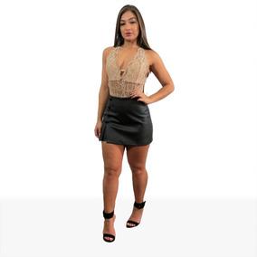 Body Bory De Renda Com Bojo Florido Feminino + Brinde45