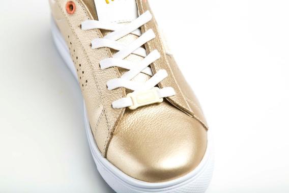 Tenis Mujer Zapatos Sneakers Zapatillas Queen Oro