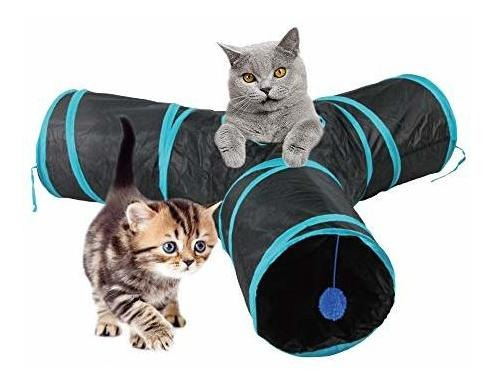 Pawise Tunel Para Gatos Y Cubo Para Gatos Plegable Para Inte