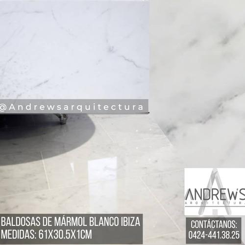 Baldosa Marmol Blanco Ibiza