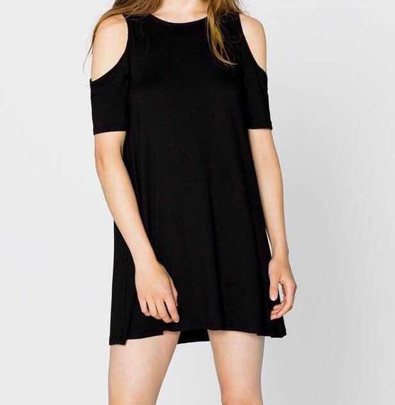 Vestido Negro Pull & Bear