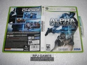 Alpha Protocol Original Completa Midia Fisica P/ Xbox 360
