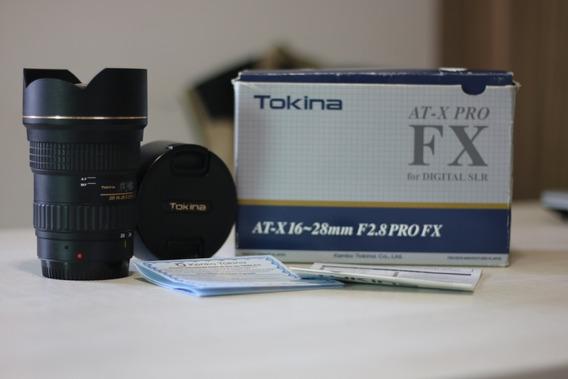 Lente Tokina 16-28mm F:2.8 Fx-pro Para Canon.