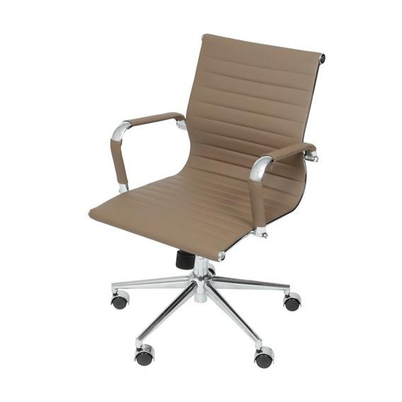 Cadeira Escritorio Eames Esteirinha Giratória Baixa Marrom