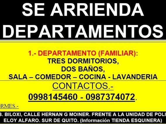 Canon Arrendamiento Negociable - Departamento Sur Quito.