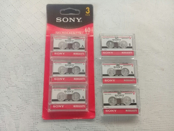 Microcassette Sony 6 Unidades Novas Para Gravadores Mini K7