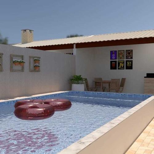 Imagem 1 de 6 de Lançamento Em Itanhaém - Casa Com Piscina - Financie