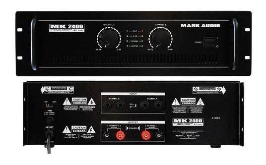 Amplificador Potencia Mark Audio Mk-2400 400w