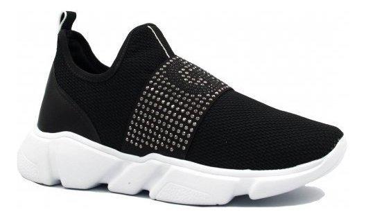 Tênis Zariff Shoes Casual Em Malha Preto 12703