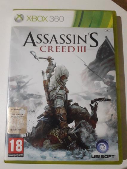 Assassins Creed 3 Xbox 360 Mídia Física