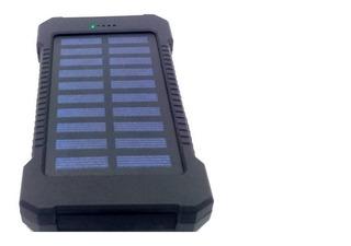 Carregador Power Bank Solar Portátil Universal Com Lanterna