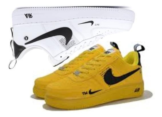 Tênis Nike Air Forxce Masculino Skatista Promoção Kit 2 Par
