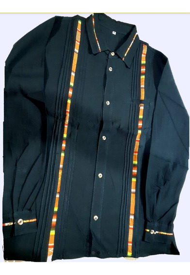 Camisa Guayabera Artesanal. Manga Larga
