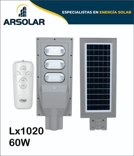 Luminaria Led Solares  60 W Con Sensores De Movimiento