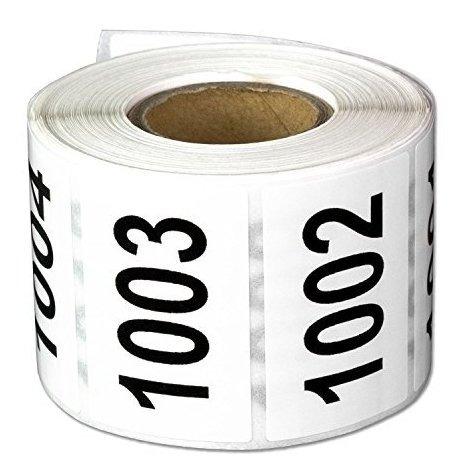 Imagen 1 de 6 de Número Consecutivo Etiquetas Auto Adhesivas Pegatinas ...