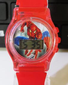 Relógio Do Homem Aranha Red Digital Vingadores Infantil V001
