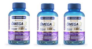 Kit 3 Omega 3 1000mg 120 Cápsulas - Catarinense
