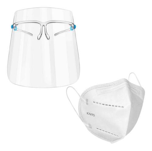 Caretas Protectoras Facial Transparente + Mascarilla Kn95