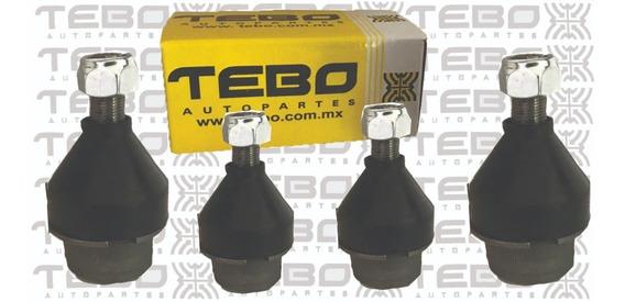 Kit 4 Rotulas Vw Combi 72-01 1.6 1.8 Tebo Original