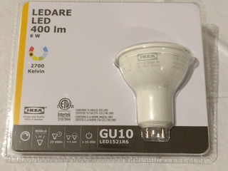 Dicroica Led 400 Lum 6w Gu10 120v - Made In Suecia