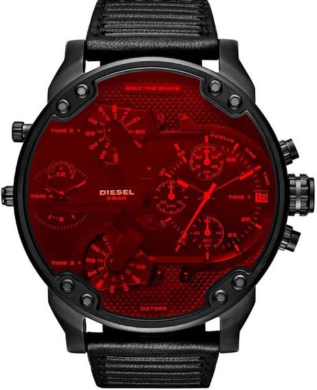 Relógio Diesel Masculino Mr. Daddy Dz7402 *black Red