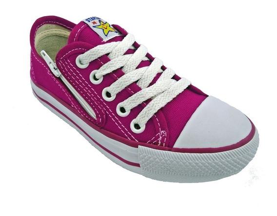 Tenis Starzinho Lona Com Ziper Infantil Pink De: 99,90