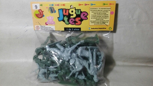 Lote De 24 Soldaditos Plasticos En Bolsa 5.5 Cm.  Lote N 95