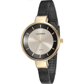Relógio Mondaine Feminino Dourado/preto 76597lpmvhe3