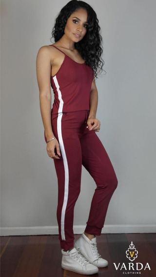 3 Conj. Camiseta + Calça | Varda Clothing | Bordô C Branco