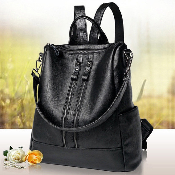 Bolsa Couro Ecológico Mochila Satchel Fashion Pronta Entrega