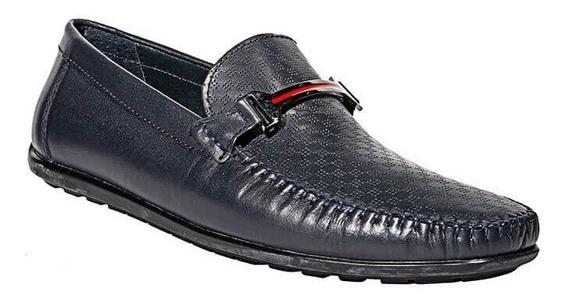 Zapatos Casuales Mocasin Karosso Hombre Caballero Piel 10101