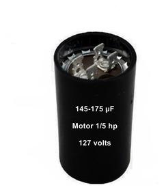 Capacitor Eletrolítico Bobina 145/175mf P/ Motor 1/5hp 110v