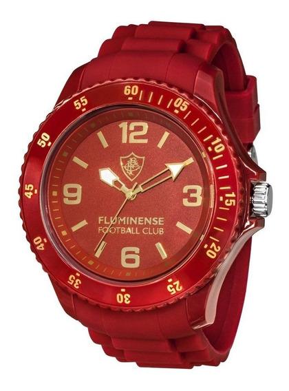 Relógio De Pulso Fluminense Oficial Bel Watch Grená Dourado
