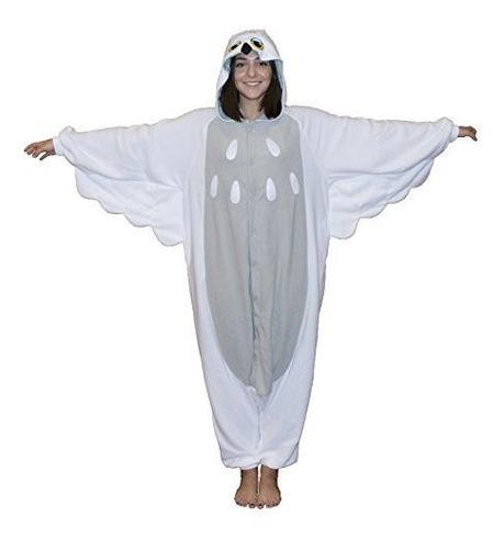 Snowy Owl Kigurumi Adult White