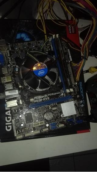 Kit Intel Core I3 3210 + Placa Mãe H61m + 4gb Ddr3