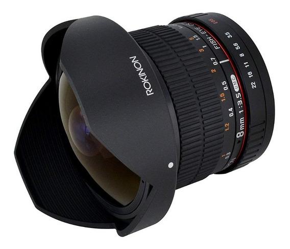 Lente Rokinon Fisheye 8mm F/3.5 Hd P/ Canon - P. Entrega