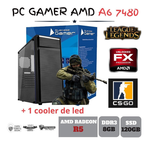 Cpu Gamer Amd A6 7480 8gb Ddr3 Ssd120gb Radeon Integrada