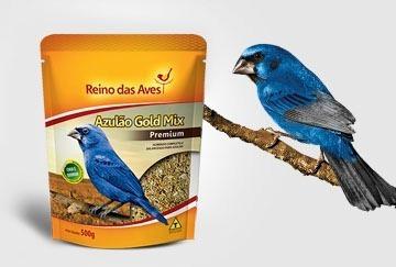 Ração Para Azulão Pássaro 03(três) Pacote De 500g Cd