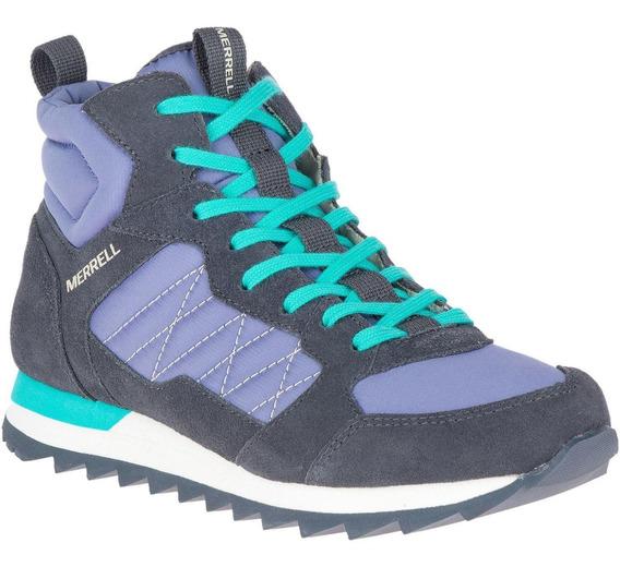 Botin Mujer Alpine Sneaker Mid Uva Merrell