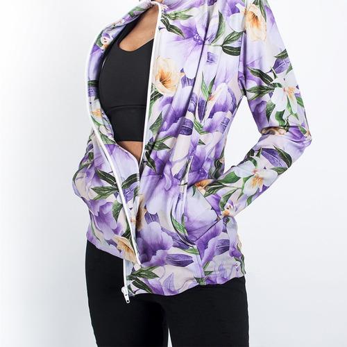 Imagen 1 de 3 de Campera Polisap De Mujer - Floral