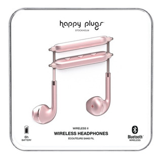 Auriculares Bluetooth Happy Plugs Wireless Ii Pink Gold